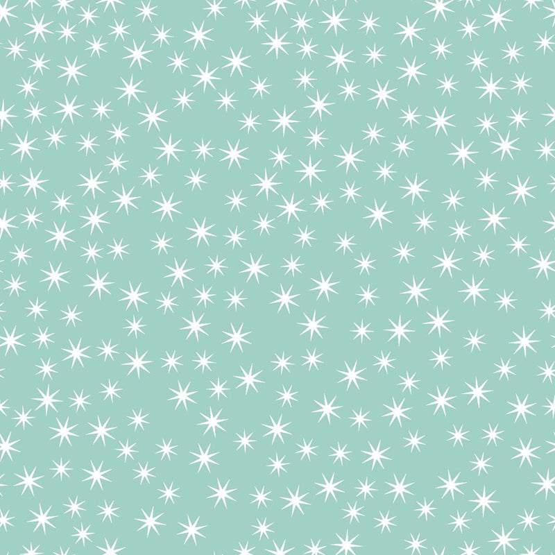 Small star print on light blue fabric from EE Schenck - view 1