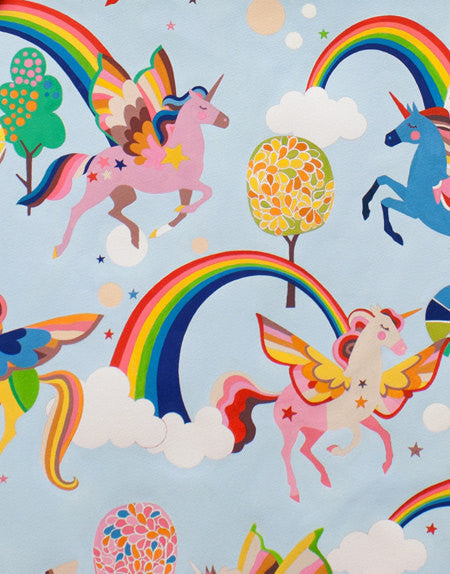 Pegasus and rainbows fantasy print from Alexander Henry Fabrics - view 1