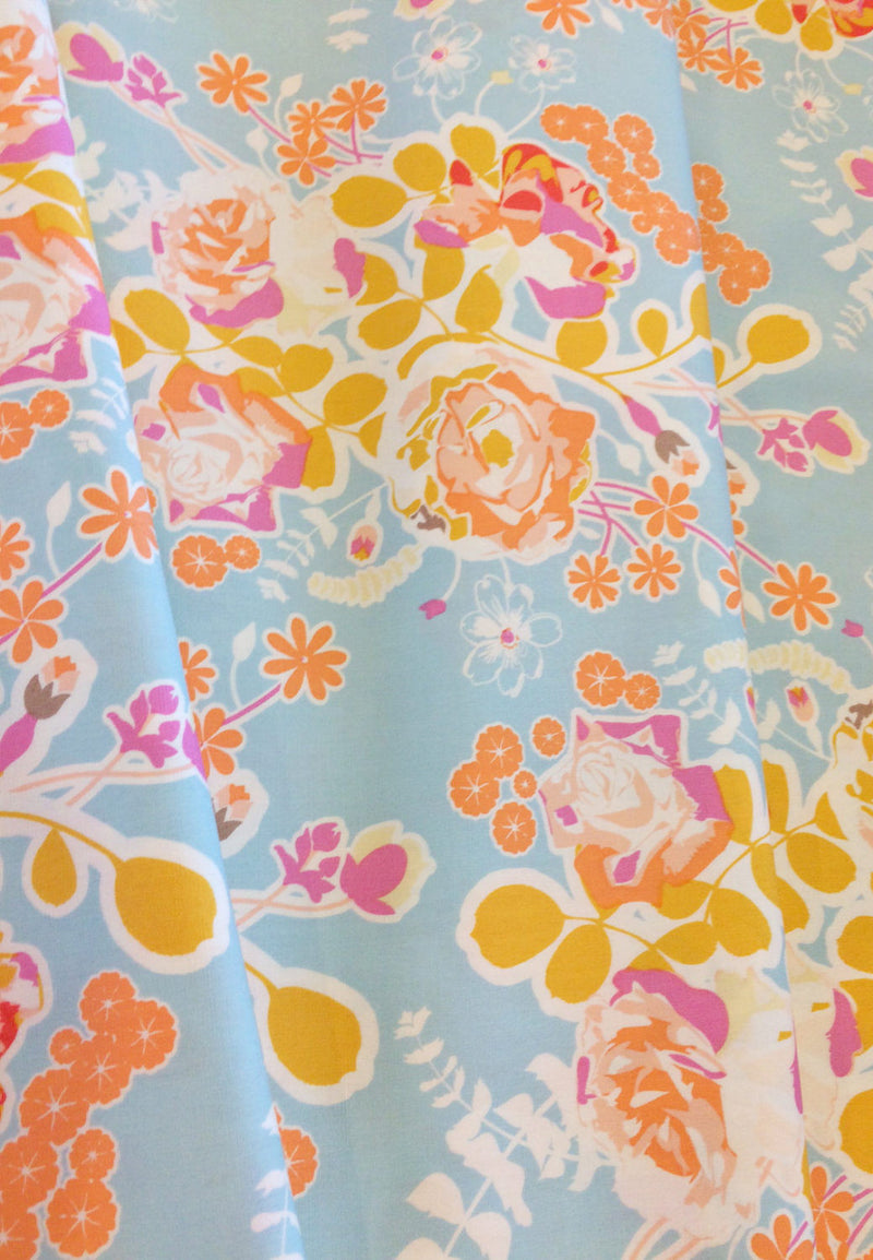 Beautiful women and flowers on cotton from Alexander Henry Fabrics - view 3