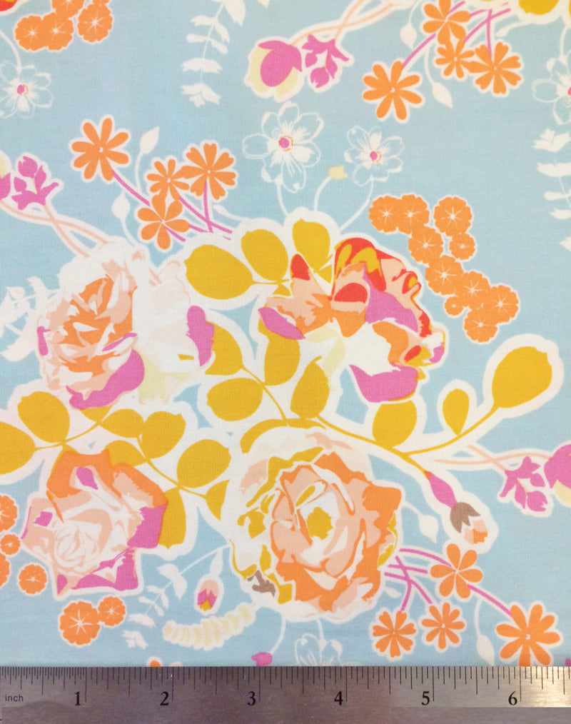 Beautiful women and flowers on cotton from Alexander Henry Fabrics - view 2