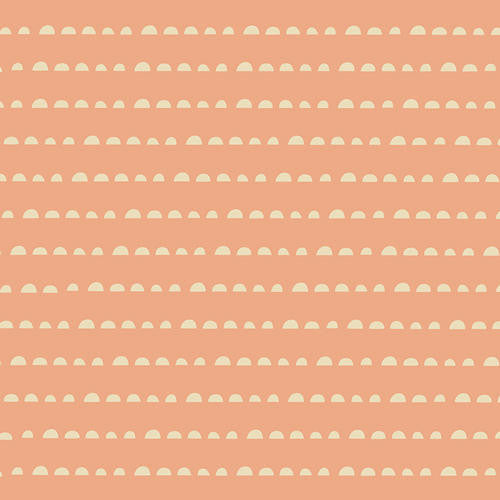 Cream dots on apricot cotton from Art Gallery Fabrics - view 1