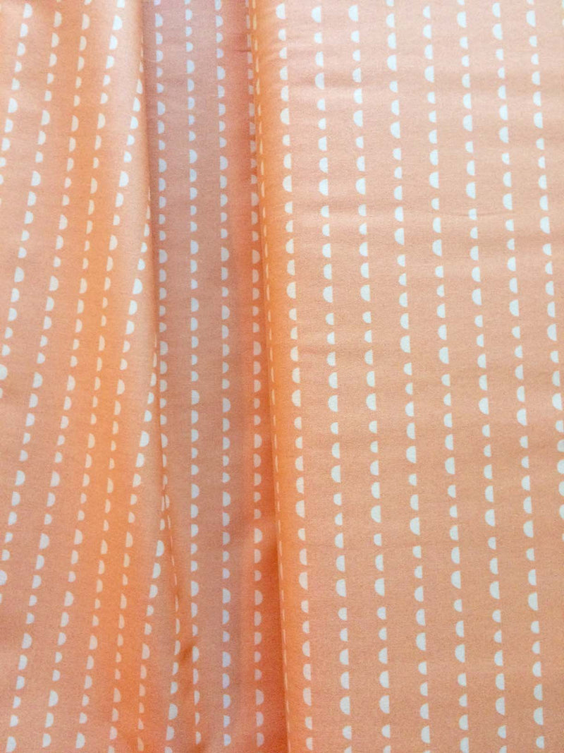 Cream dots on apricot cotton from Art Gallery Fabrics - view 2