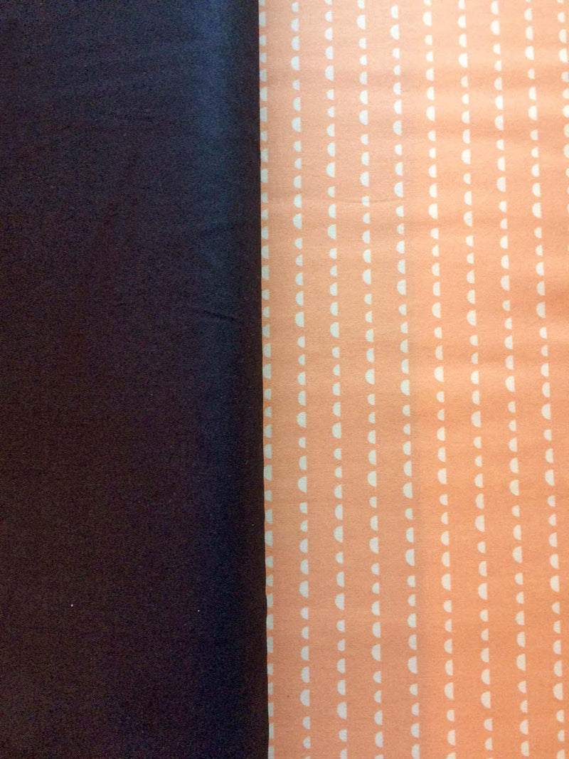 Cream dots on apricot cotton from Art Gallery Fabrics - view 3