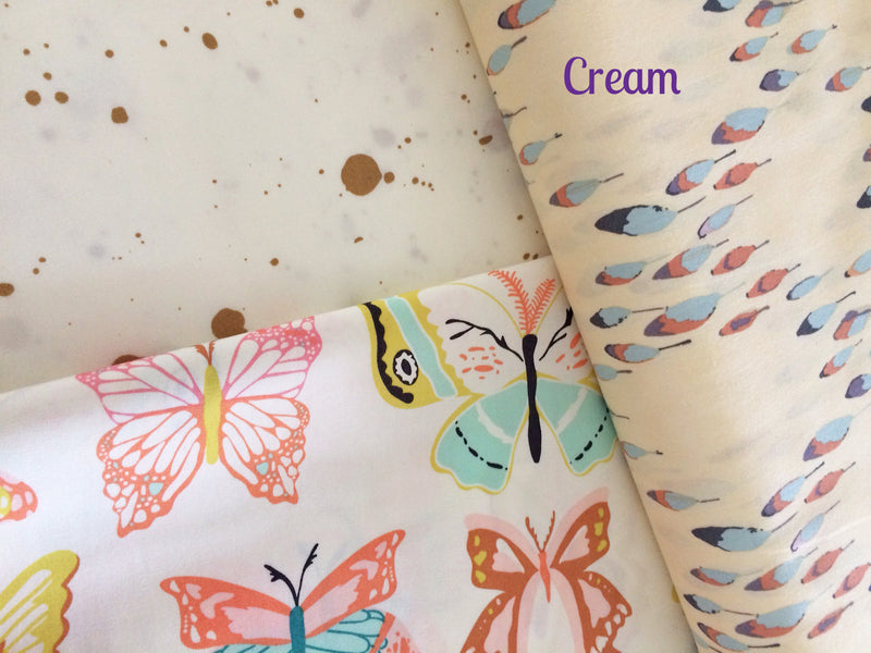 Pretty butterflies on white cotton from Art Gallery Fabrics - view 6