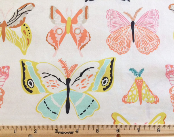 Pretty butterflies on white cotton from Art Gallery Fabrics - view 4
