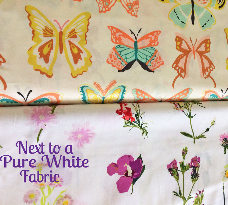 Pretty butterflies on white cotton from Art Gallery Fabrics - view 5