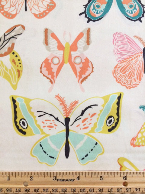 Pretty butterflies on white cotton from Art Gallery Fabrics - view 3