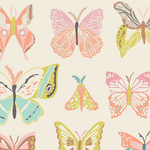 Pretty butterflies on white cotton from Art Gallery Fabrics - view 1