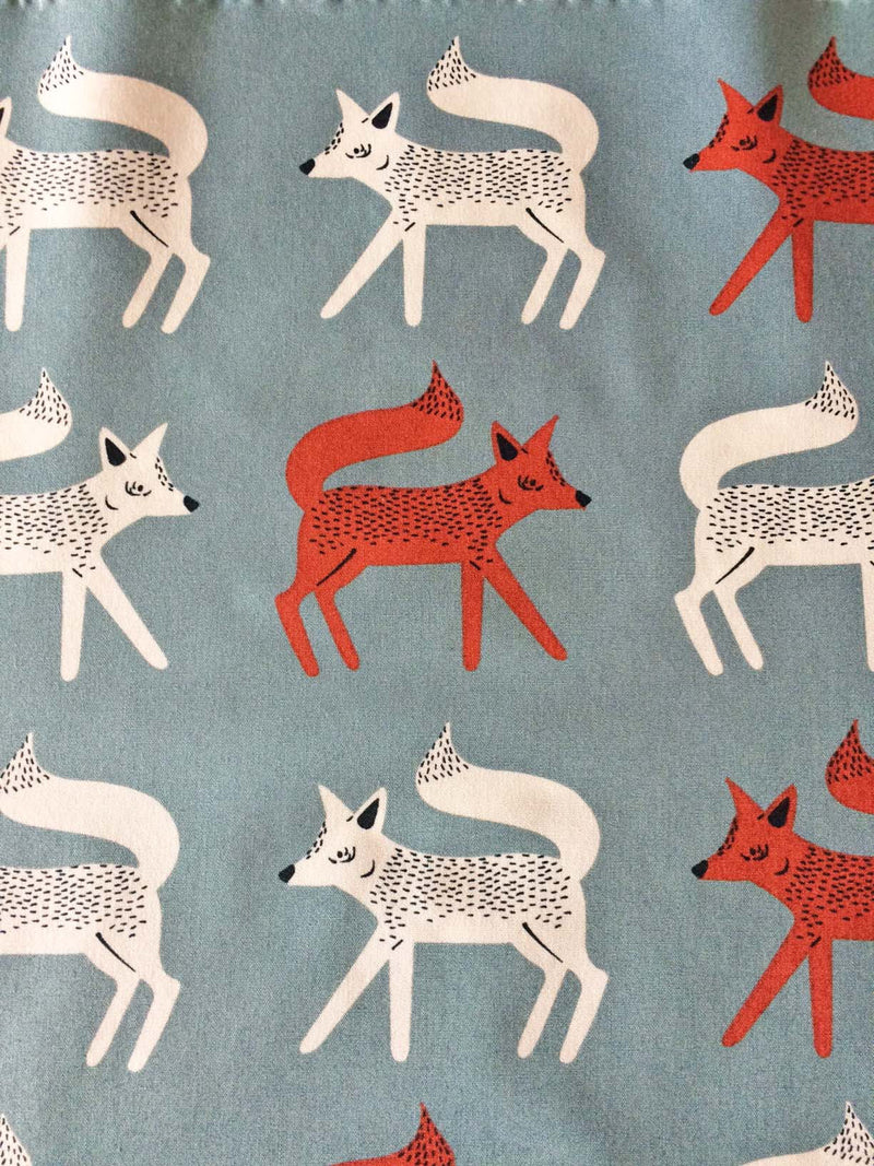 Foxes on gray cotton from Art Gallery Fabrics - view 1