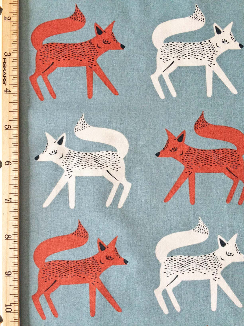 Foxes on gray cotton from Art Gallery Fabrics - view 4