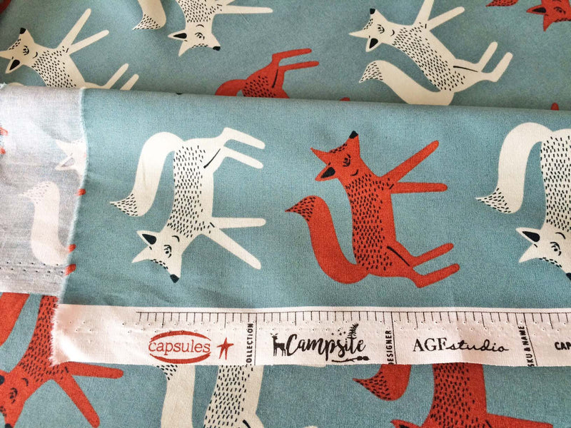 Foxes on gray cotton from Art Gallery Fabrics - view 5