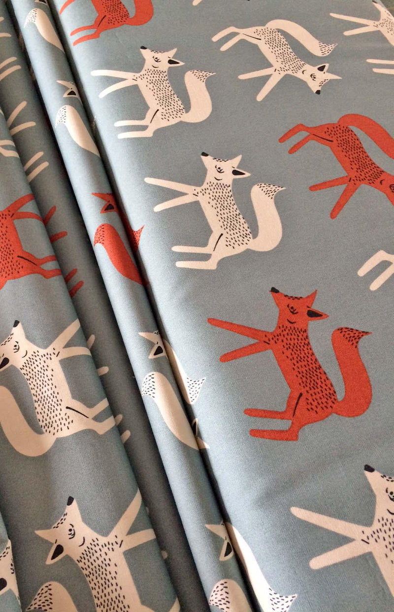 Foxes on gray cotton from Art Gallery Fabrics - view 2