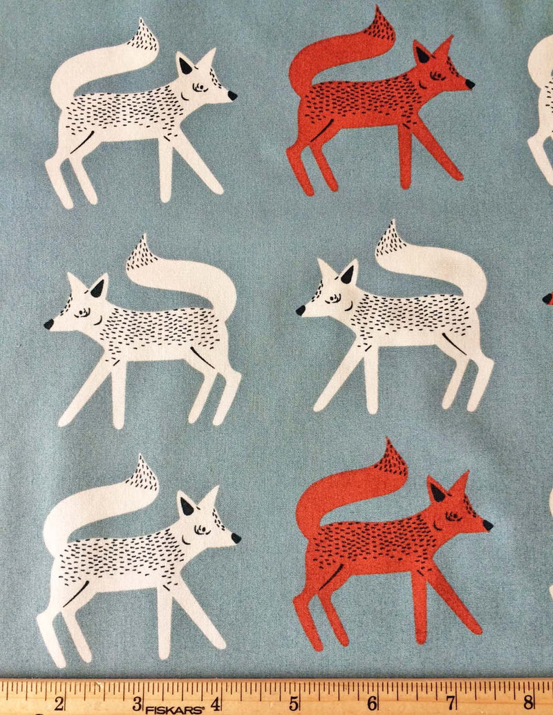 Foxes on gray cotton from Art Gallery Fabrics - view 3