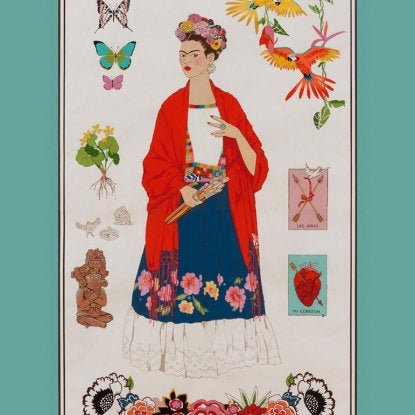 Frida Panel on blue cotton from Alexander Henry Fabrics - view 1