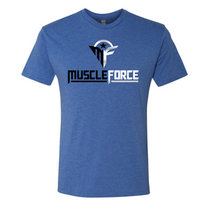 MuscleForce Premium T-Shirt Blue