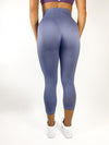 Womens Cropped Leggings (Light Charcoal)