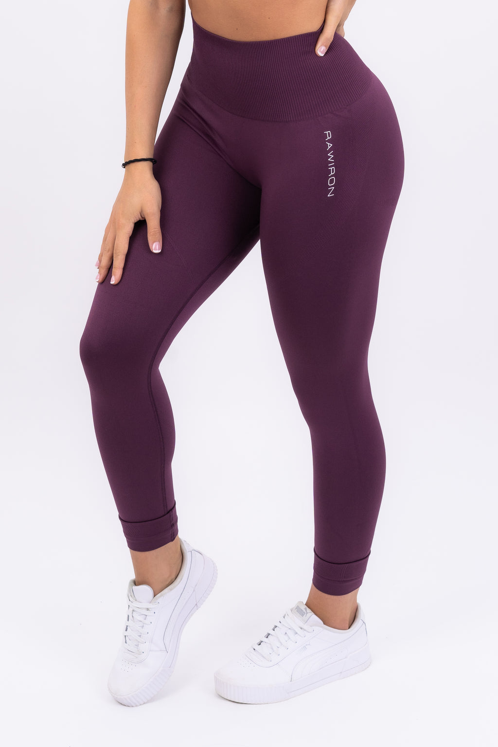 Womens Seamless Leggings (PLUM PURPLE)