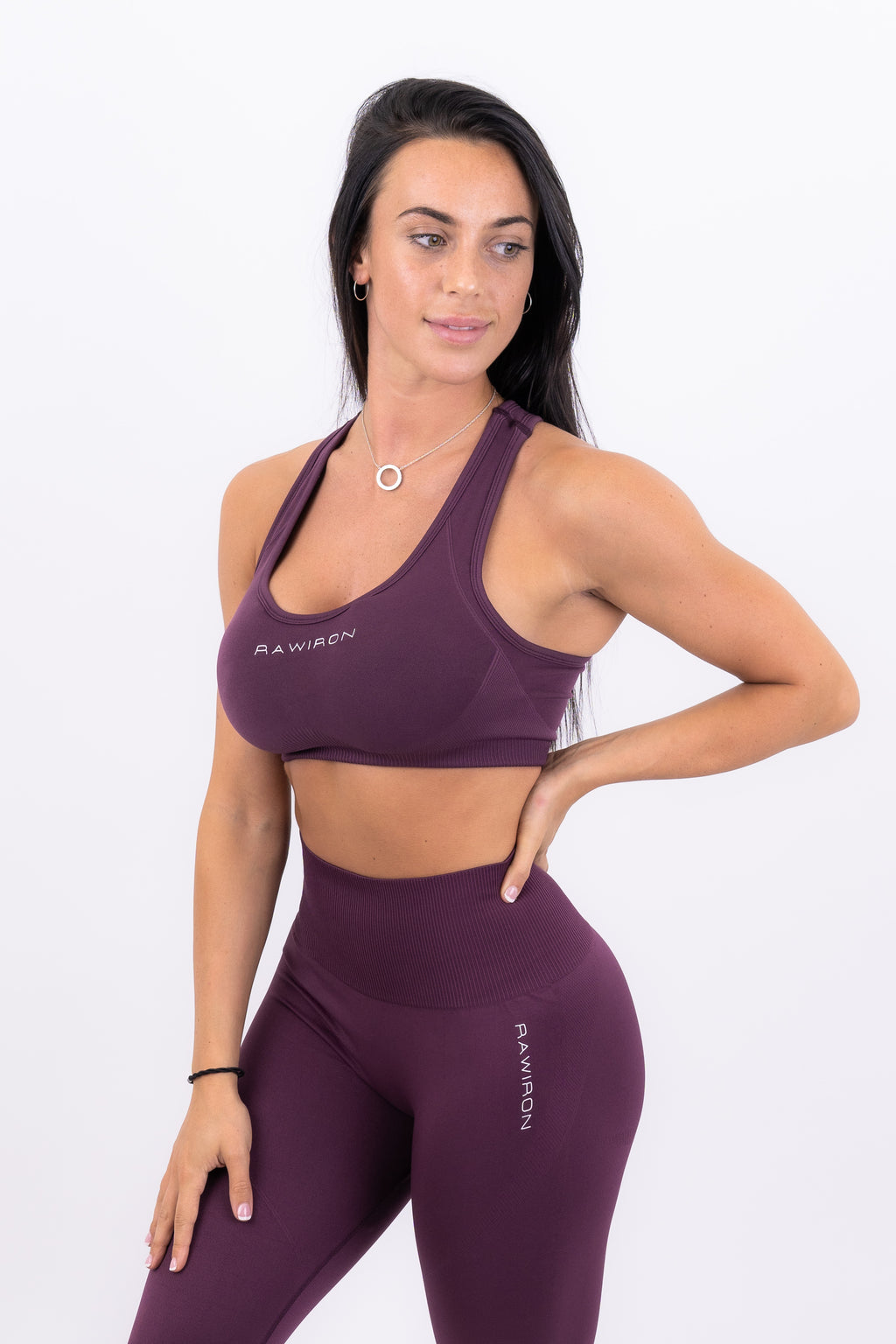 Womens Sports Bra (PLUM PURPLE)