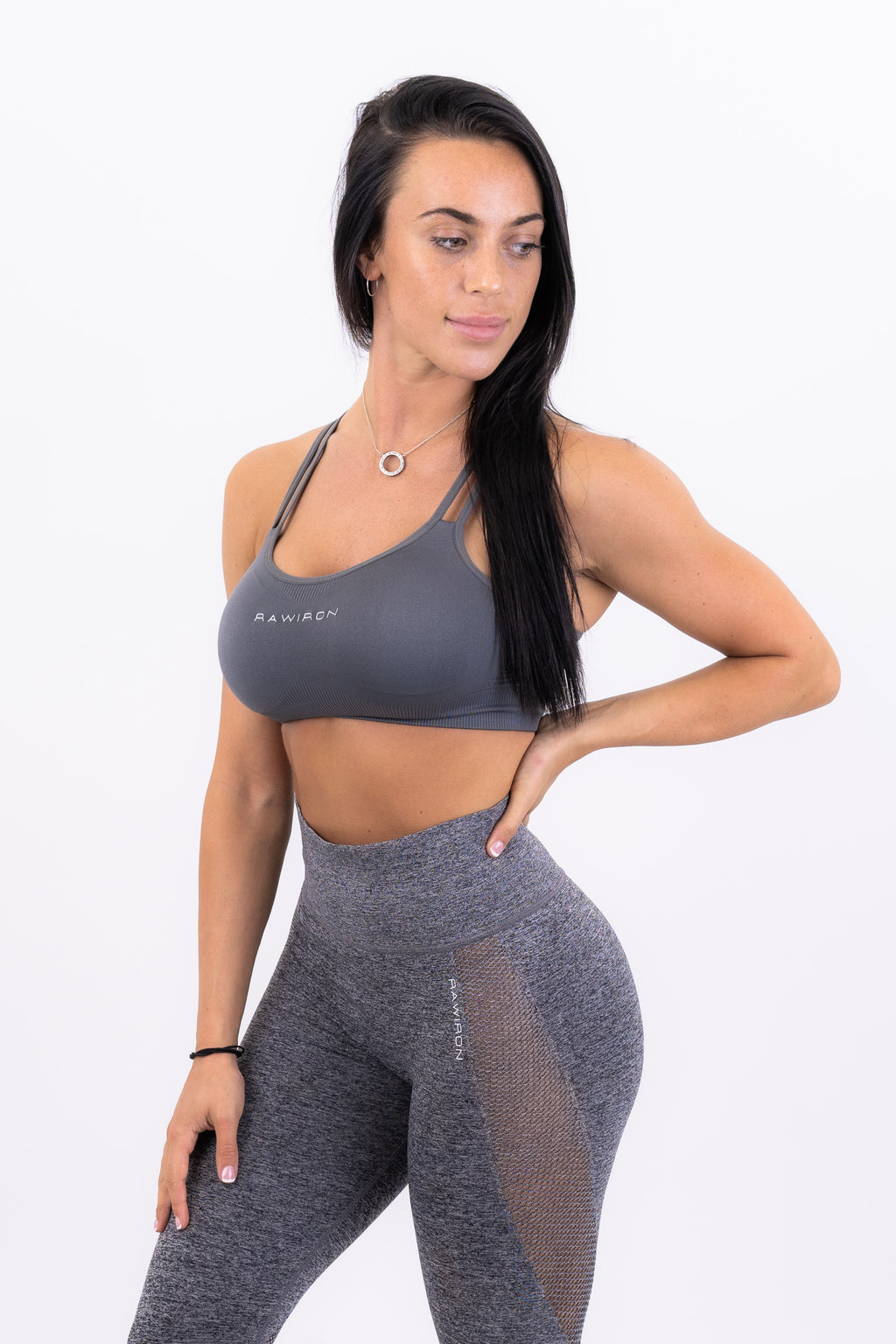 Womens Seamless Lace Bra (GREY)