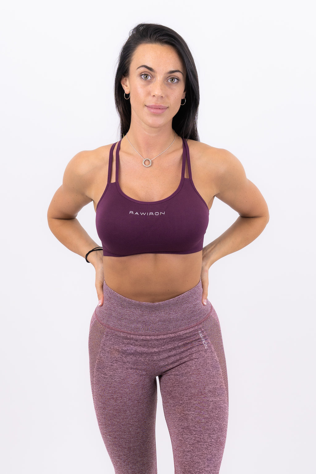 Womens Seamless Lace Bra (WINE RED)