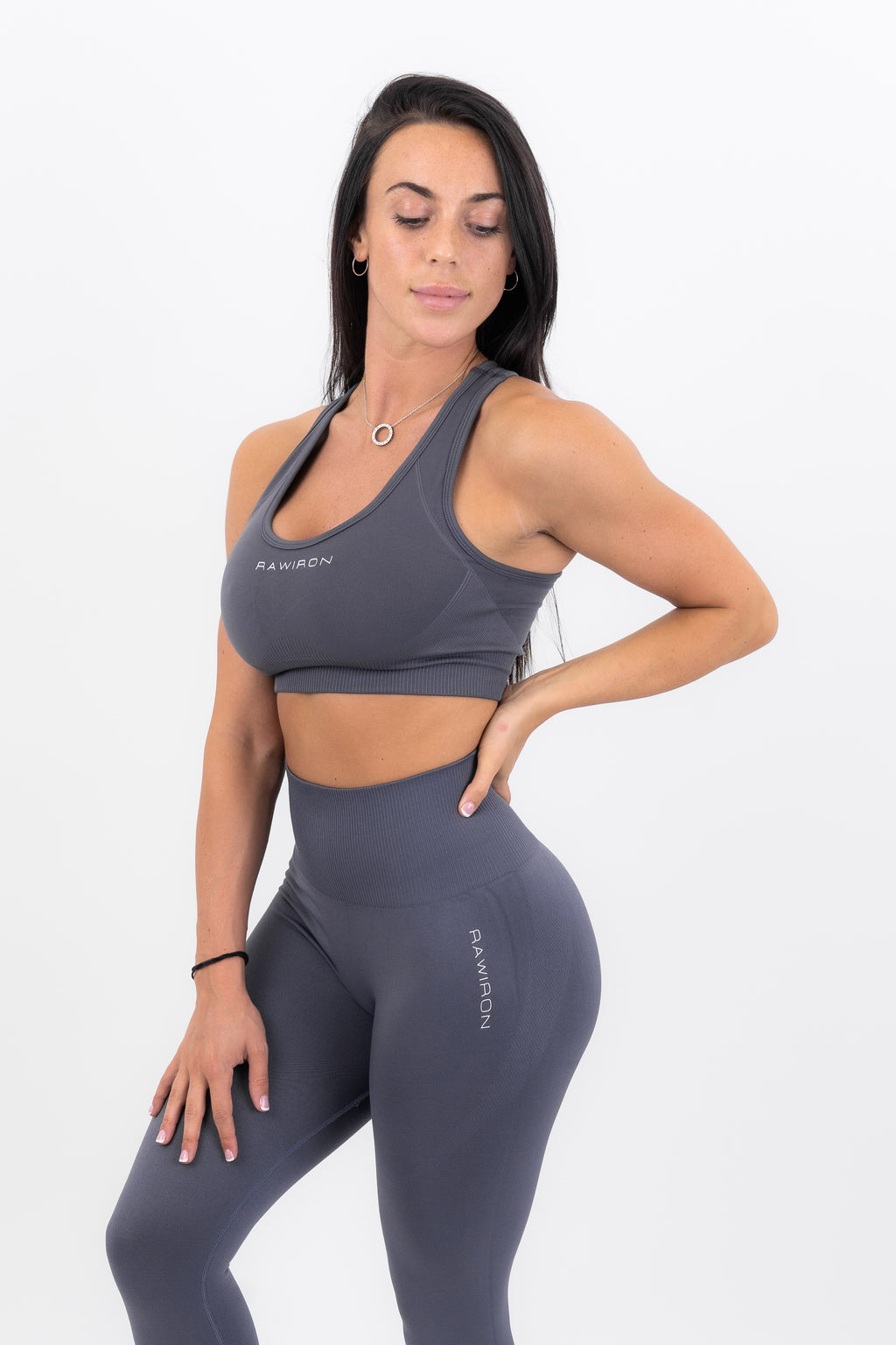 Womens Sports Bra (CHARCOAL BLUE)