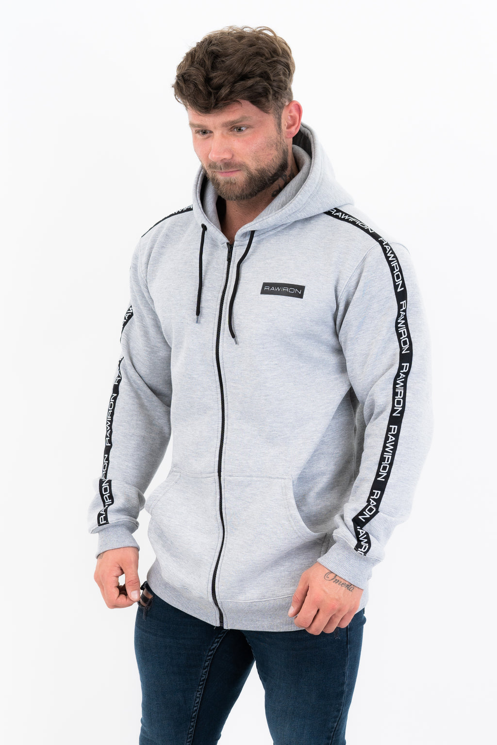 Mens Icon Zip Hoodie - GREY