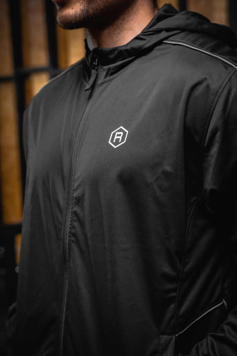 Redline Performance Zip Hooded Jacket - BLACK