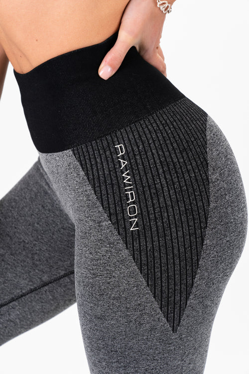 Luxe Seamless Leggings (Black/Grey)