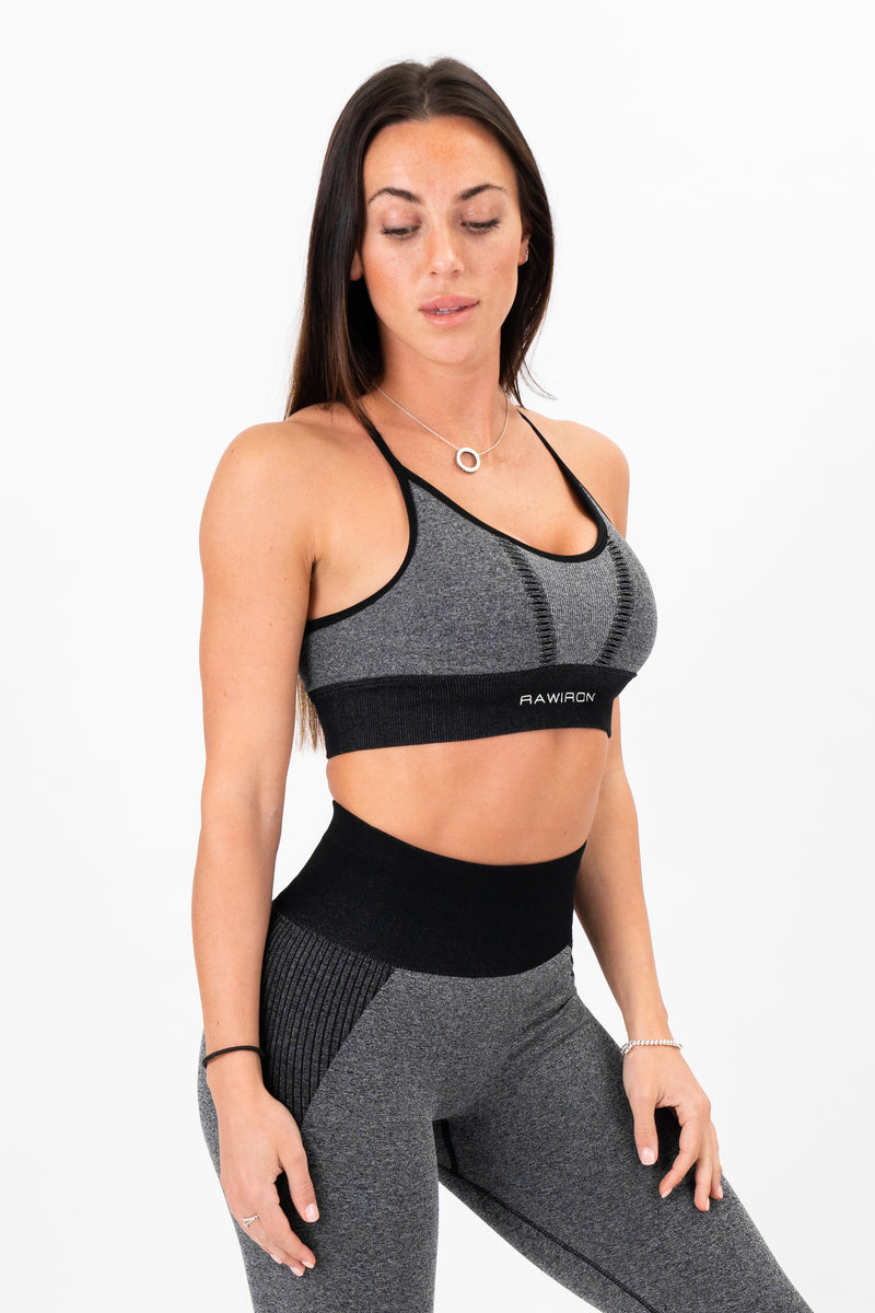 Luxe Seamless Bra (Black/Grey)