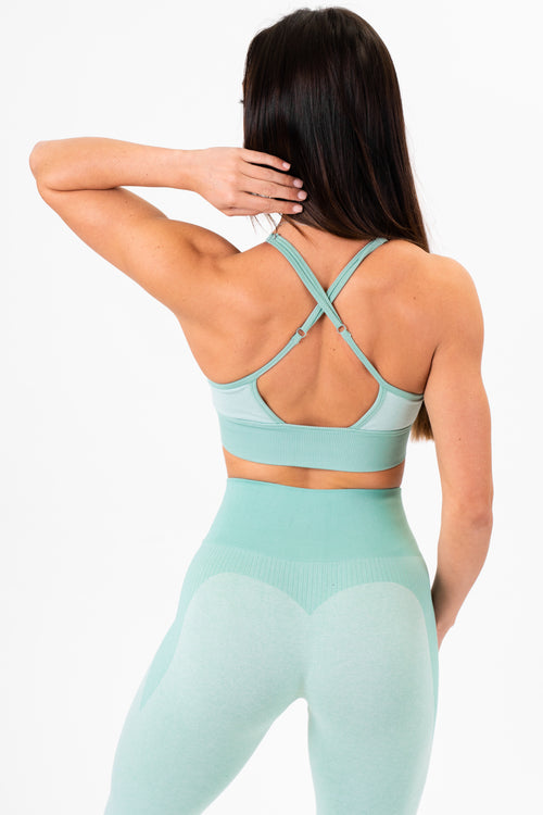 Luxe Seamless Bra (Light Green)