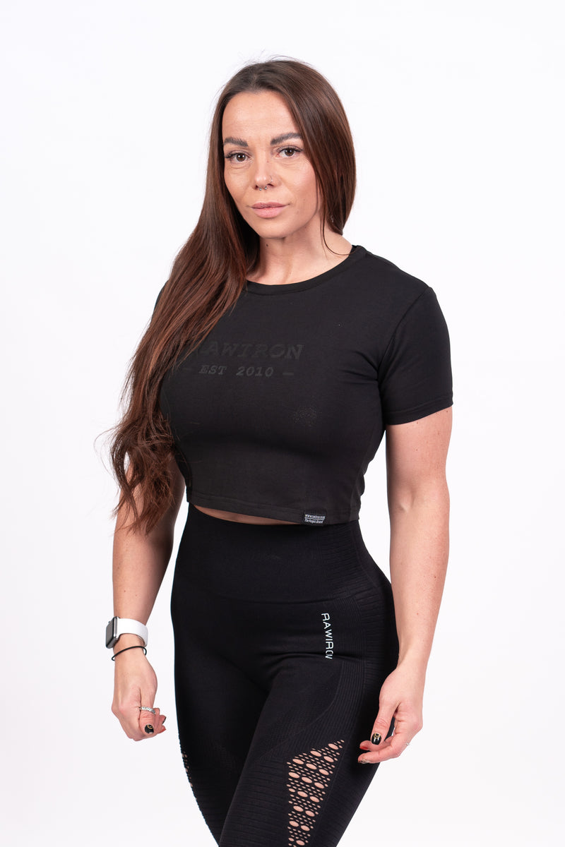 Womens Blackout Signature Crop Tee