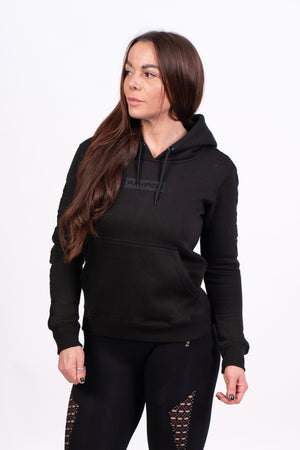 Womens Blackout Hoodie - Black