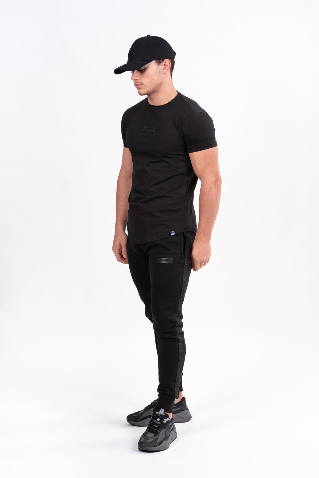 Mens Blackout Jogging Bottoms - Black