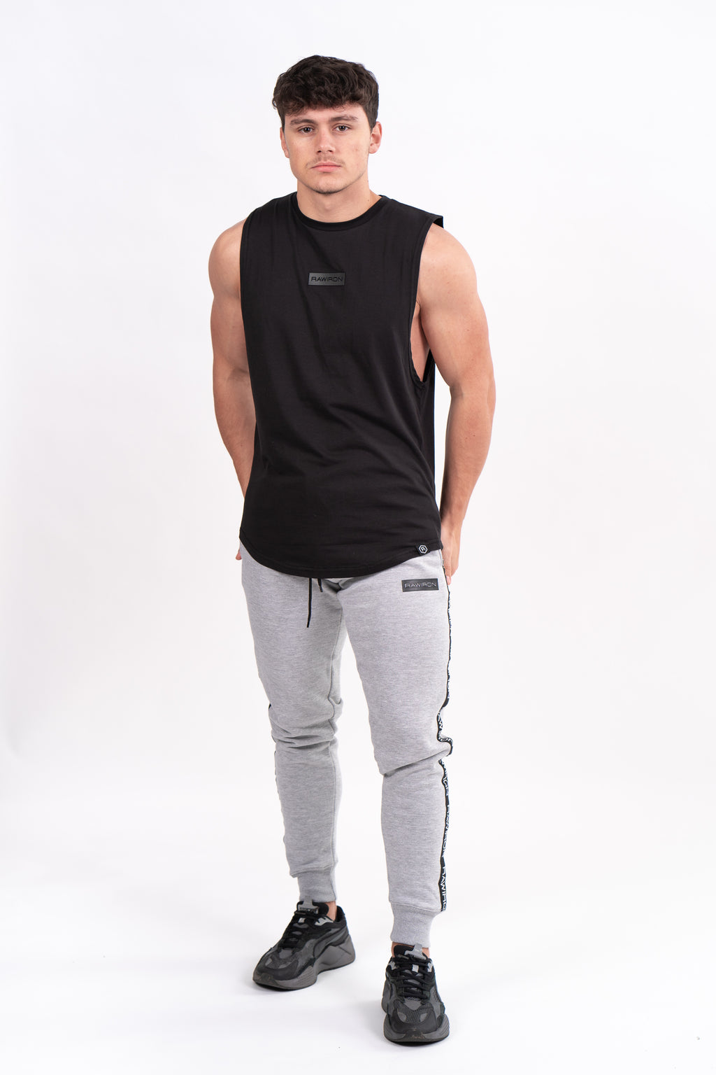 Mens Blackout Tank Vest - Black