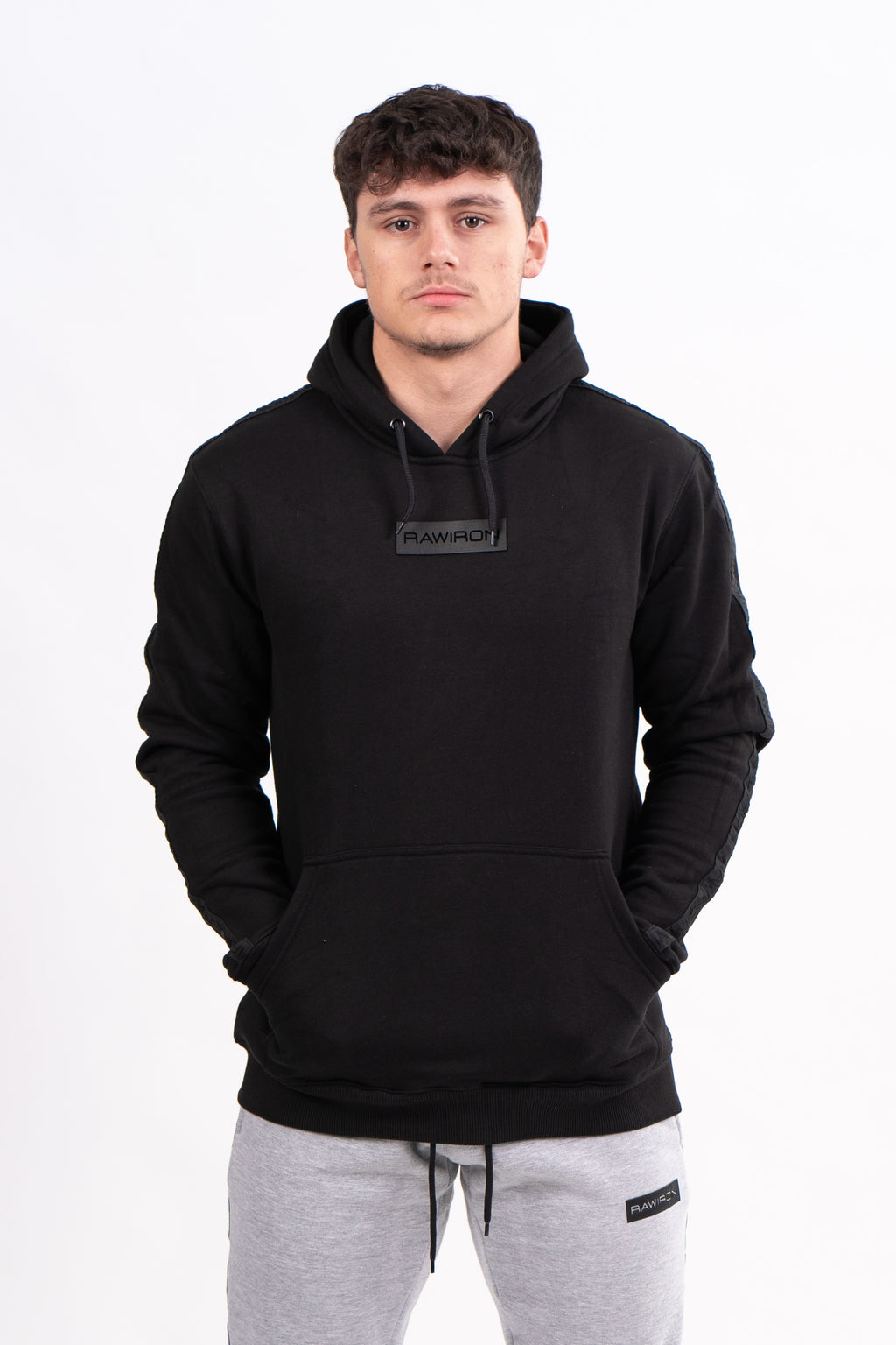 Mens Blackout Hoodie - Black