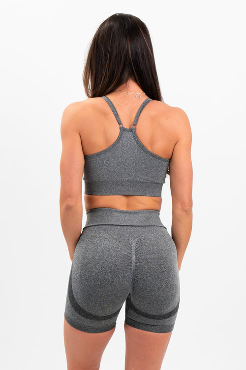 Luxe Seamless Scrunch Shorts (Graphite GREY)