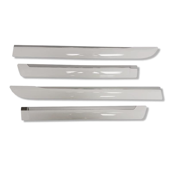 White Side Door Molding Trims for 2016-2021 Toyota Hilux