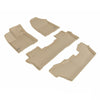 Floor Mats Set (Beige 3 Rows) for 2013-2016 Toyota Land Cruiser 200
