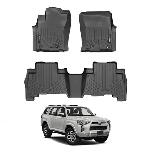 For 2016-2018 Toyota 4Runner WeatherTech Floor Liners (Black)