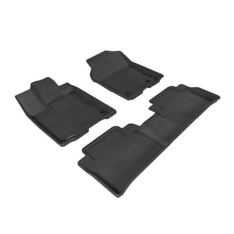 For 2012-2019 Isuzu D-Max Floor Mats Set (Black)