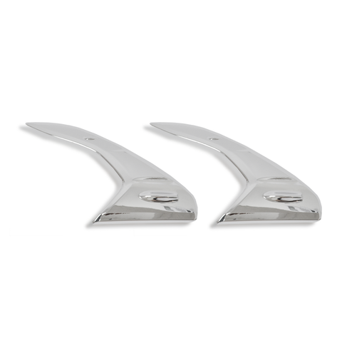 For 16-17 Toyota Hilux Revo Chrome Headlight Trim Cover Set
