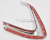 For 16-17 Toyota Hilux Revo Chrome Lower Grille Garnish Bumper Cover