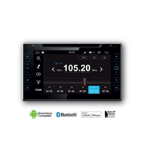 Radio Multimedia (DVD, Navigation, Bluetooth, USB) for 2016-2019 Toyota Hilux