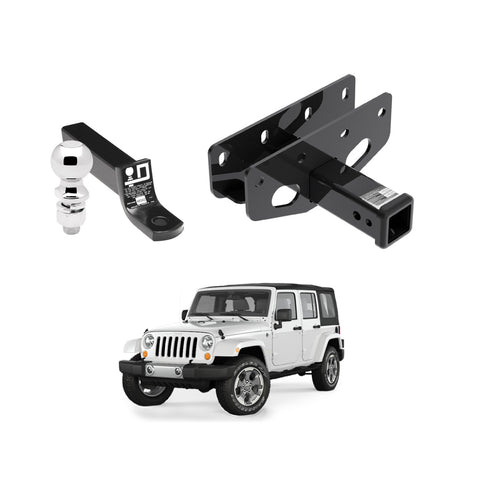 Draw Tite Towing Kit (Frame Receiver + Ball Mount) for 2016-2019 Jeep Wrangler JL