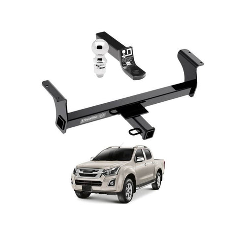 Draw Tite Towing Kit (Frame Receiver + Ball Mount) for 2013-2019 Isuzu Dmax