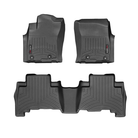 For 2018 Toyota Land Cruiser Prado WeatherTech Floor Liners (Black)