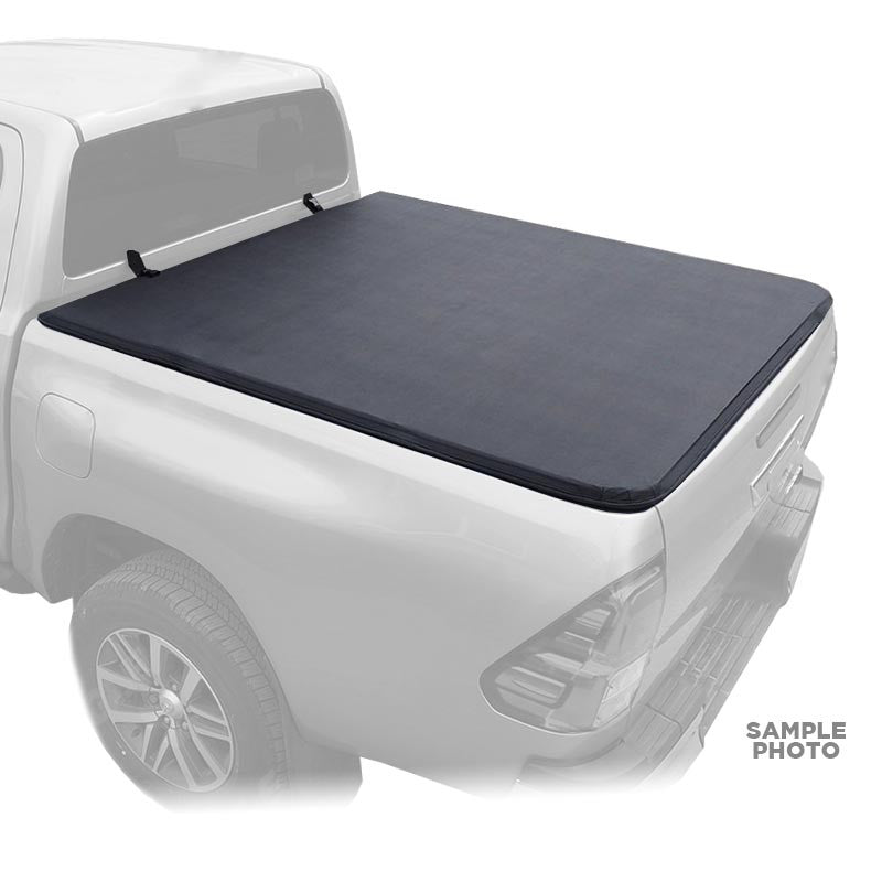 For 2016 2018 Nissan Frontier NP300 Double Cab Soft Tri Folding Truck Bed  Cover 5u0027