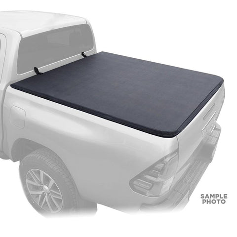 For 2007-2018 Toyota Tundra Double Cab Soft Tri Folding Truck Bed Cover 6.5'