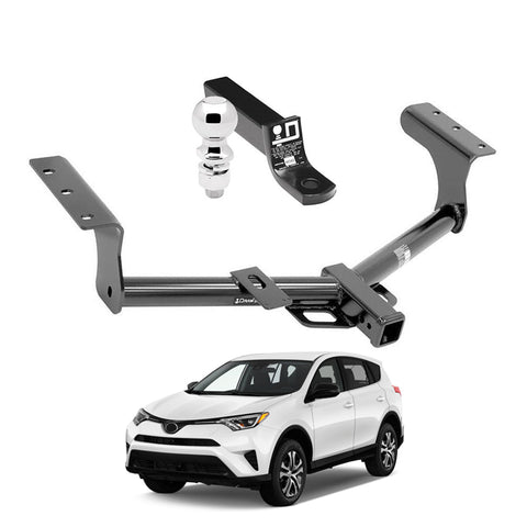 Draw Tite Towing Kit (Frame Receiver + Ball Mount) for 2015-2018 Toyota RAV4