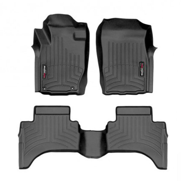 For 2016-2018 Mitsubishi L-200 Triton WeatherTech Floor Liners (Black) 448792